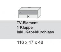 Arte M TV Element Chester 1 Klappe, verschiedenen Farben und Varianten 115 x 47  cm