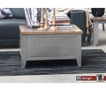 Factory Line Couchtisch Detroit by Canett Design, Metall used Look und  Mangoholz 80 x 80 x 45 cm
