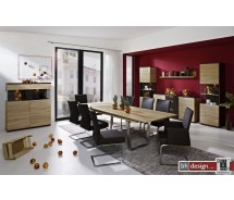 Arte M Esstisch  Deck mit Edelstahlbeinen ausziehbar  160-255 cm x 75 cm in verschiedenen Holzvarianten