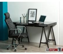 Spazio Schreibtisch mit Rauchglas-Tischfläche 140 x 70 cm