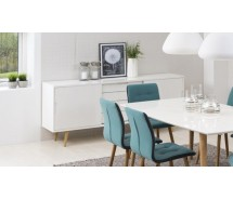 Elise Sideboard weiss hochglanz 194 x 45 x H 83 cm Skandinavien Style