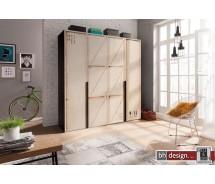 Express Möbel Drehtürenschrank Caja im überdimensionalen KIsten Design, alternativ 150, 200, 250 cm  x H  216 cm