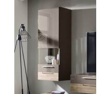 Arte M Hängeelement Feel Weiss oder Cubanit / Eiche massiv, 1 Tür,  60 cm x 144 x 36 cm