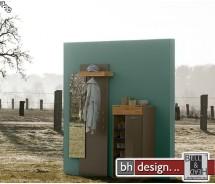 Arte M Garderoben Kombi Feel weiss oder Cubanit mit Eiche massiv  157 x 200 x 42 cm (ohne Spiegel)