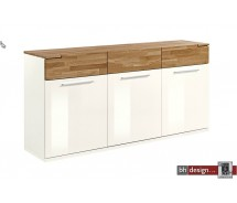 Arte M Sideboard Feel Weiss/ HG oder Cubanit HG/ Eiche massiv  180 cm x 88 x 42 cm