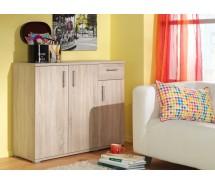 CS Schmal Kommode Fox, 3 Türen, 1 Schublade, 108 x 86 cm, verschiedene Farben