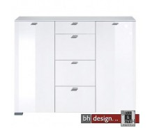 Arte M Highboard Gallery Weiss/Weiss HG 150 x 116 cm