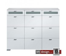 Arte M Highboard Gallery Weiss / Floatglas 150 x 116 cm