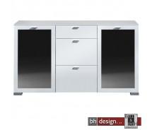 Arte M Sideboard Gallery Plus Weiss/Schwarzglas 150 x 84 cm
