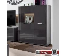 Arte M Highboard Gamble,  2 Türen, 6 Fachböden 103 x 135 cm in verschiedenen Farben