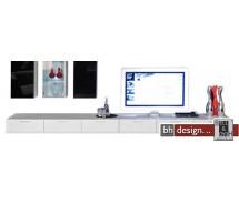Arte M TV-Element Game Plus Hochglanz Weiss 360 cm x 24,5 cm