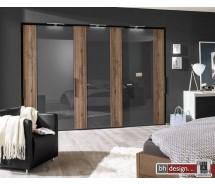 Arte M Schiebetürenschrank get-in drive, div.Größen, Front Glas und Absetzung, Höhe 216 cm, alternativ 236 cm