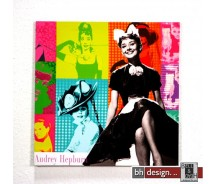 """Bild """"Audrey Hepburn"""" 40 x 40 cm"""