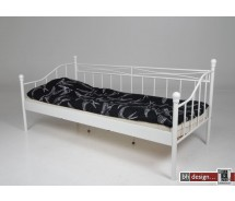 Isabelle Einzelbett Matt weiß oder schwarz 90 x 200 cm