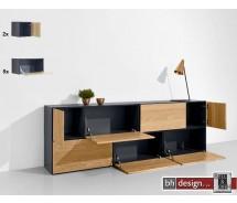 """Just a Box Wohnkombination Modell """"sideboard"""" by NOOBEEASS 225 x 75 x 39 cm in verschiedenen Varianten"""
