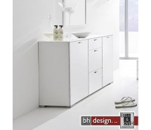 Arte M Sideboard Gallery Super Plus Weiss/Weissglas 150 x 84 cm