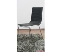Lafite Designstuhl hochglanz weiss mit schwarzem Durabak