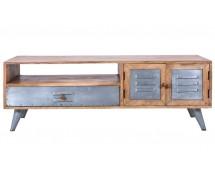 TV Tisch Leipzig by Canett Design, Metall used Look und  Mangoholz 130 x 47 x 40 cm