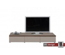 Arte M TV-Element Linea W Steingrau HG/ Esche dunkel 180 cm x 27,5 cm