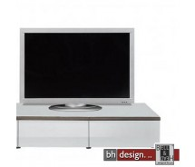 Arte M TV-Element Linea W Weiss/ HG/ Esche dunkel 120 cm x 27,5 cm