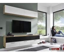 Arte M Motion Medien Wohnwand  verschiedene Farben und Ausführungen 180 x 203 x 49 cm