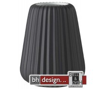 Spizy Minivase Plisse schwarz H 13 cm