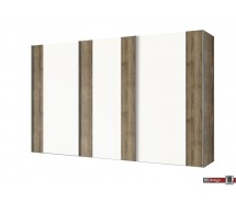 Express Möbel Schwebetürenschrank NAVAJO, diverse Größen, Front Lack weiss mit Absetzung, Höhe  216 cm