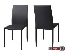 Piano Designstuhl Stoff Grau/Schwarz meliert