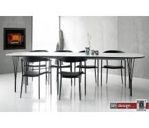 Pippolo  Esstisch weiss matt ausziehbar von 200 cm bis 280 x 100 cm