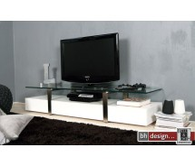 Plasmas TV-Tisch hochglanz weiss