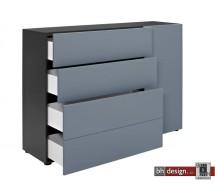 Arte M Plus Kommode Pure verschiedene Materialvarianten/Farbvarianten 150 x 104,  1 Tür, 4 Schubkästen