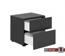 Arte M  Nachtkonsole Pure verschiedene Materialvarianten/Farbvarianten 50 x  H 48 cm , 2 Schubkästen