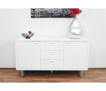Slidely shaped Sideboard weiss hochglanz 145 x 45 x H 78 cm