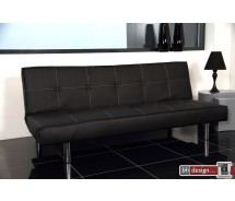Scotti Bettcouch Lederlook schwarz