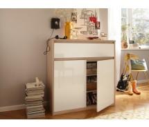 CS Schmal Kommode Soft Smart, 106 x 110 cm, 1 Schubkasten grifflos, 2 Türen, verschiedene Farben