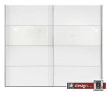 Arte M Schiebetrenschrank Style Weiss / Weissglas
