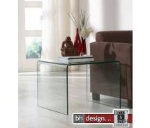 Thilde Beistelltisch gebogenes Glas 60 x 60 cm