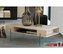 Toronto Couchtisch by Canett Design, Eiche HN und Fach mit Glasbeinen 110 x 60 cm