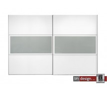 Arte M Schiebetrenschrank Trio Plus Weiss / Floatsicherheitsglas