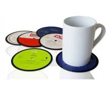 6 er Set Retro Vinyluntersetzer, Vintage Glasuntersetzer bzw. Bierdeckel für Getränke aus echten Vinyl-Schallplatten