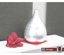 Spizy Vase Rund Silber H 47 cm