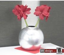 Spizy Vase Rund Silber D 33 cm