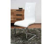 Glossy Swingstuhl weiss Hochglanz mit gepolstertem Sitz