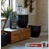 Factory 2 Satz Tisch by Canett Design Mango massiv 60 cm Rund