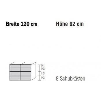 Nolte Möbel Kommode Alegro2 Style, 120 x 92 cm, 8 Schubkästen in verschiedenen Farben
