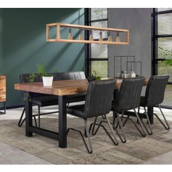 Baumkante Baumstamm Esstisch Konferenztisch massiv Akazienholz  200  x 100 cm alternativ 240 cm