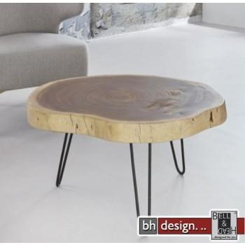 Couchtisch Lara Baumstamm Akazienholz massiv 60 x 45 cm