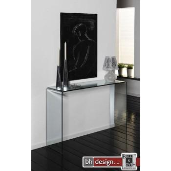 Thilde Konsolentisch aus gebogenem Glas 110 x 75 cm