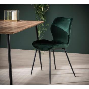 Soft Line Esszimmerstuhl  Samtoptik dunkelgrau, alternativ olivgrün 4 er Set