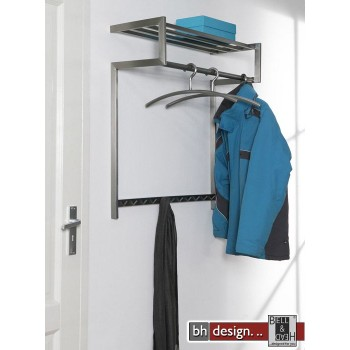 Carry Line Garderobe aus Edelstahl mit Hutablage